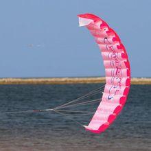 Водный спорт Забавный мощный двухлинейный трюк парафойл парашют Радужный спортивный пляжный воздушный змей для начинающих водные спортивные аксессуары