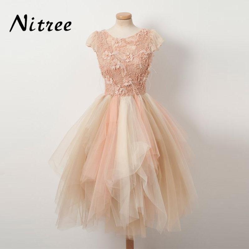 Fancy Multi Color Prom Dresses 2018 Robe de soiree Lace Formal ...