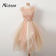 Fancy Multi Color Prom Dresses 2018 Robe de soiree Lace Formal Evening  Gowns Dresses For Weddings d1876da40fc2