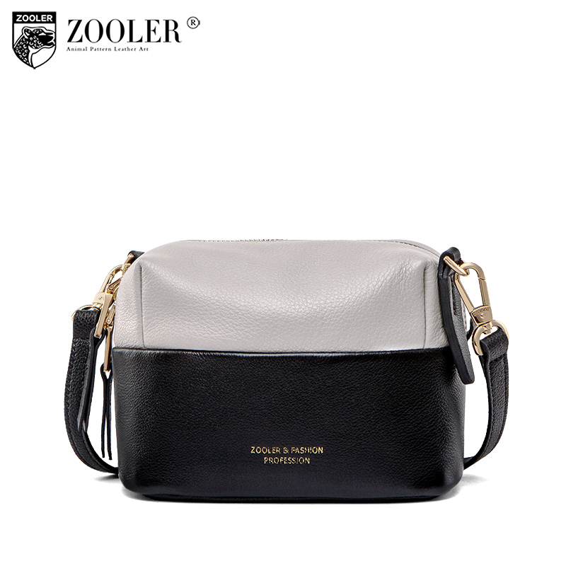 ZOOLER Top!New shoulder Bags patchwork travel bag cross body small 2018 woman bag ladies genuine leather bag bolsa feminina C159 zooler 2018 luxury genuine leather bag for woman chain shoulder bag designer woman fashion cross body bags bolsa feminina bc100