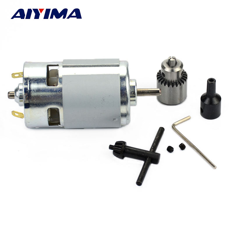 AIYIMA 1pcs New DC 12 24V 775 Miniature Mini Drill Perforated Angle Grinder Cutting Machine Electric Motor For Polished Drilling in DC Motor from Home Improvement