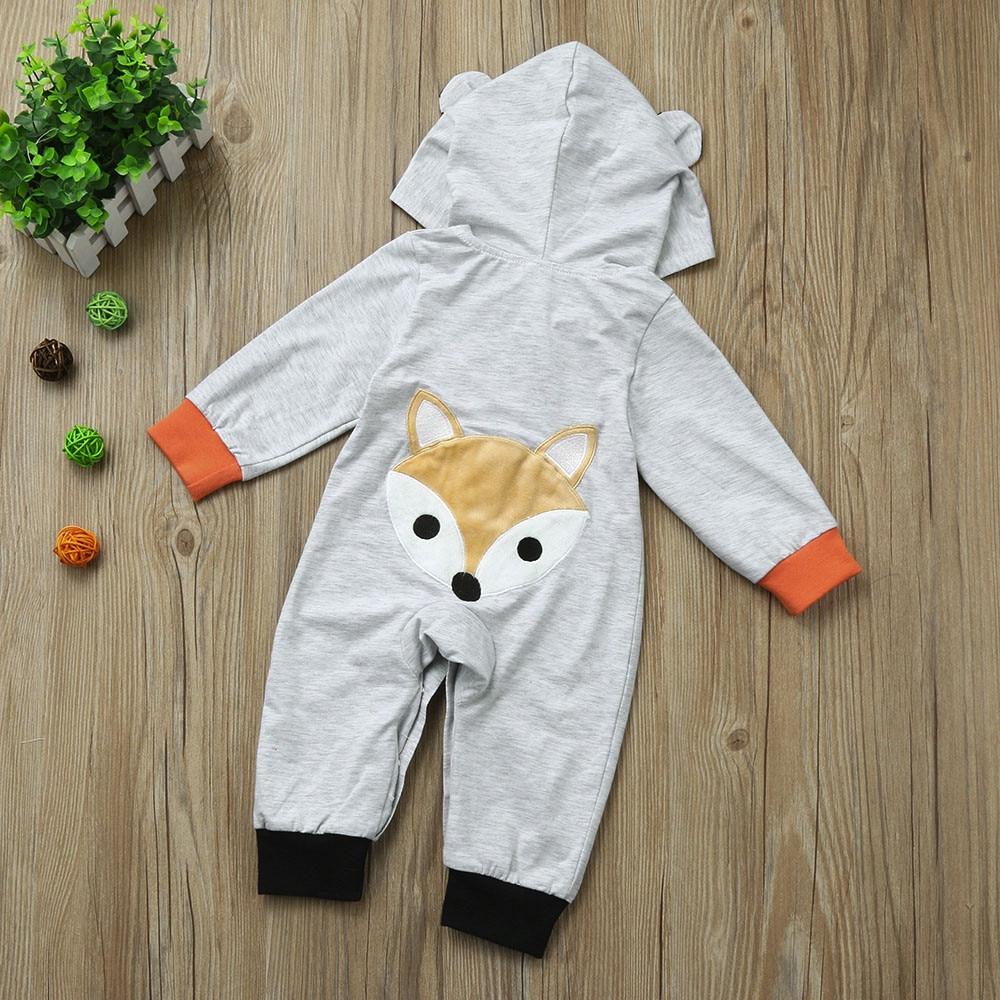 Newborn Kid Baby Stripe Cartoon Tod Boys Girls Clothes Hoodie Jumpsuit Outfits