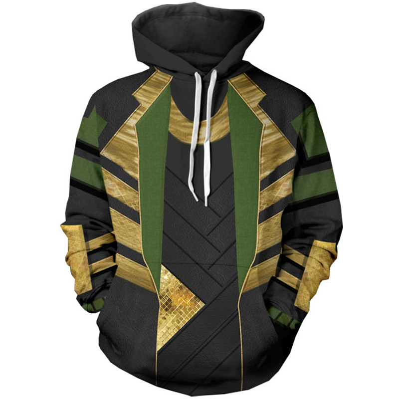 Loki Avengers Sweatshirts Hoodies Cosplay Costume Men Casual Hooded Clothing