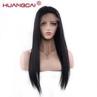 360 Синтетический Frontal шнурка волос парик 150% плотность Синтетические волосы на кружеве Человеческие волосы Искусственные парики для черный ...