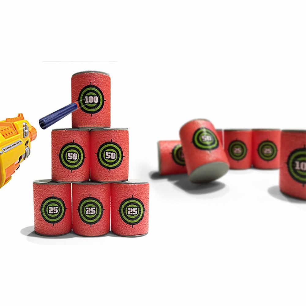 6 шт. EVA Мягкая цель для стрельбы Дартс для NERF N-Strike Elite комплект бластеров детская игрушка