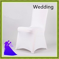 Marious Brand 1 Pieces Spandex Lycra Chair Covers China For Weddings Decoration Party Chair Covers Banquet chair cover white
