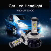 2pcs Car LED Headlight Kit H4 H13 9007 Hi Lo H7 H11 9005 9006 6000K 9600LM