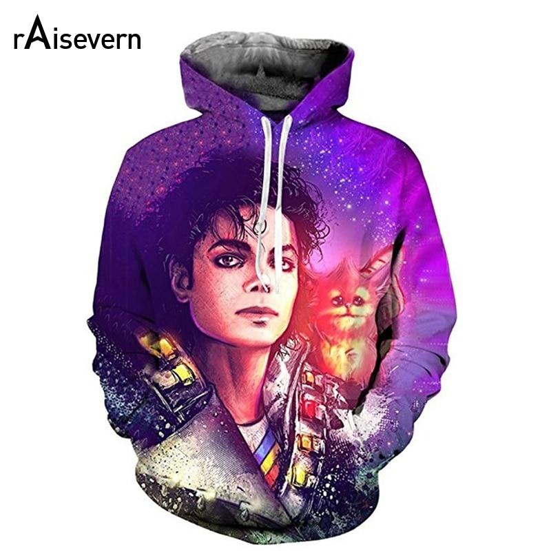 2019 nueva Sudadera con capucha 3D MJ Michael Jackson Thriller Hoodies hombres mujeres Hip Hop Sudadera con capucha moda ropa deportiva chándal Dropship