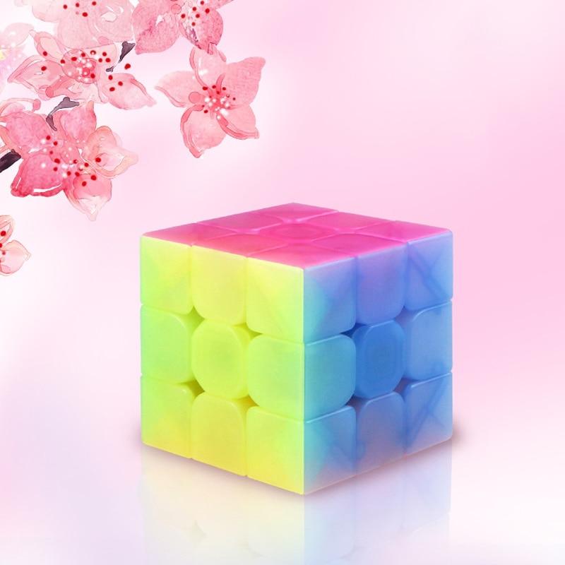 QIYI personalize 2x2x2 Jelly Stickerless Puzzles cube 3x3x3 magic speed qiyi cubes 4x4x4 cube 5x5x5 qiyi cube educational toys 10
