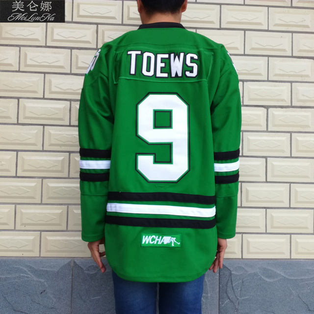 MeiLunNa Christmas Black Friday UND North Dakota Fighting Sioux  9 Jonathan  Toews 0901 Green Home Jersey 590055bfd