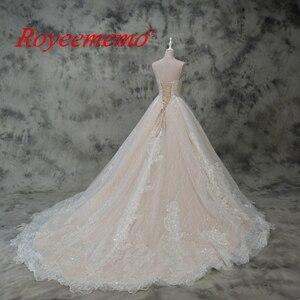 Image 5 - Venda quente cetim rosa fora do ombro design de renda especial vestido de casamento fábrica feita preço por atacado vestido de casamento feito sob encomenda