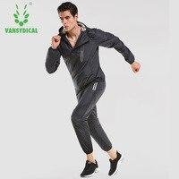 Vansydical Для мужчин Для женщин работает костюмы спортивный костюм Фитнес Йога Спортивный костюм тренировочные костюмы куртка брюки набор Пох