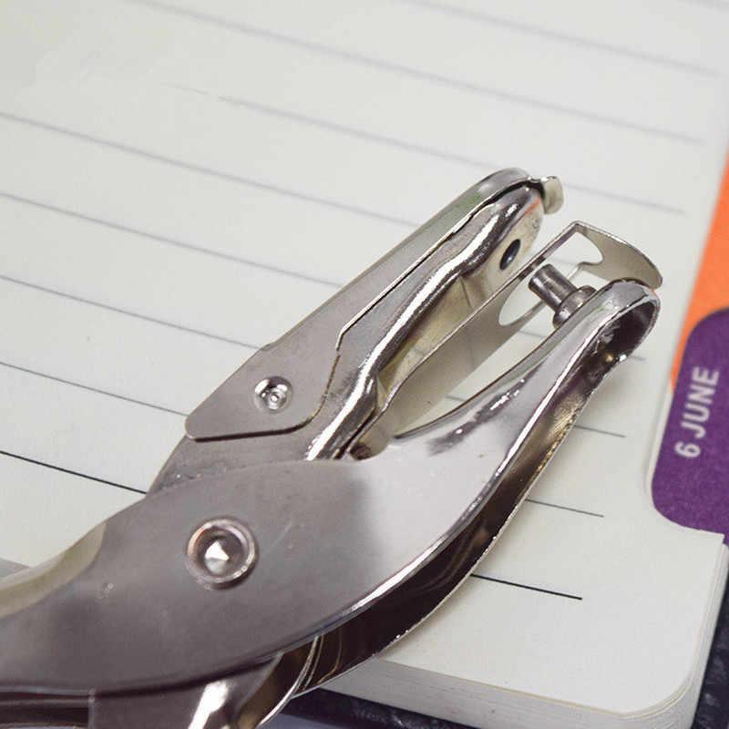 Школьные офисные металлические одно отверстие Ручка перфоратора бумажный Дырокол одно отверстие лома бронирование Дырокол 8 страниц все металлические материалы