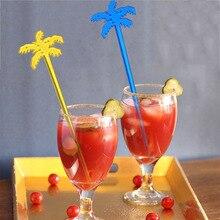 50 шт. кокосовое дерево коктейльные палочки мешалка для напитков кофе мутье лудлер пластиковый ночной клуб напиток/вино Декор