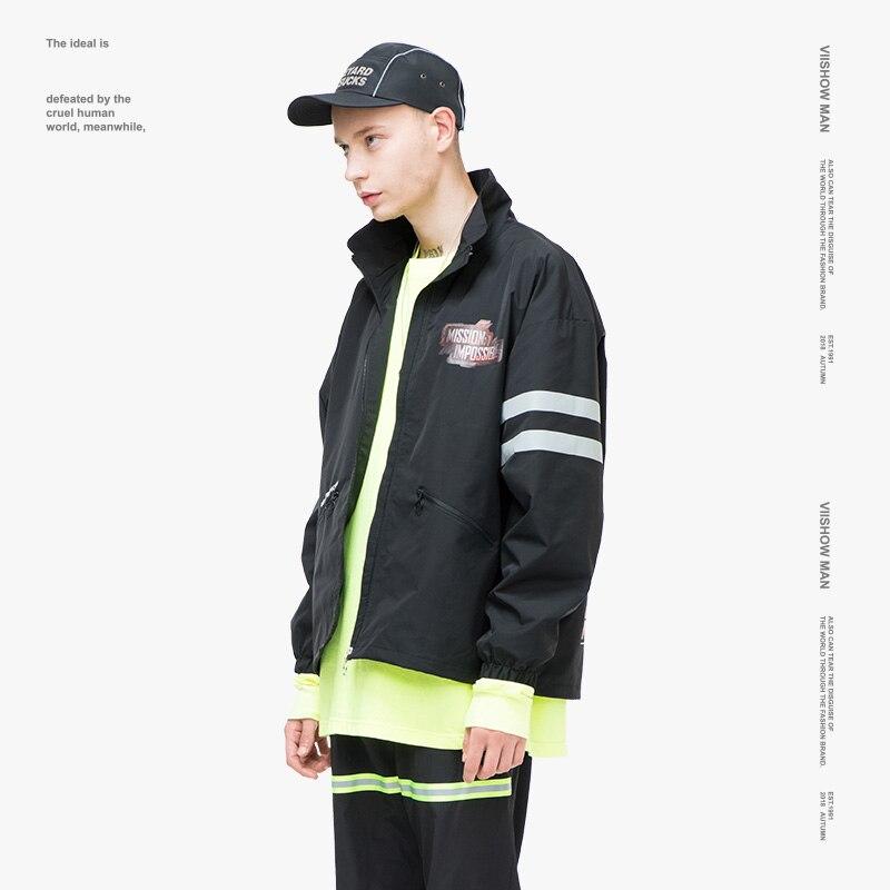 Jc2389183 Et Bomberjacket Haute Viishow Veste De Automne Hommes 2018 Black Qualité Nouvelle Noir Manteau Vestes Mode vent Mâle Coupe Vêtements OOUa7xr