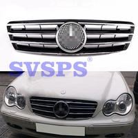 High Quality ABS Front Middle Grille For Mercedes Benz C Class W203 2000 2006 Year