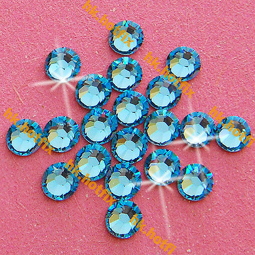ss6 GENUINE Swarovski Elements Aquamarine ( 202 ) 720 pcs 6ss ( NO hotfix  Rhinestone ) b5ced08a31f7