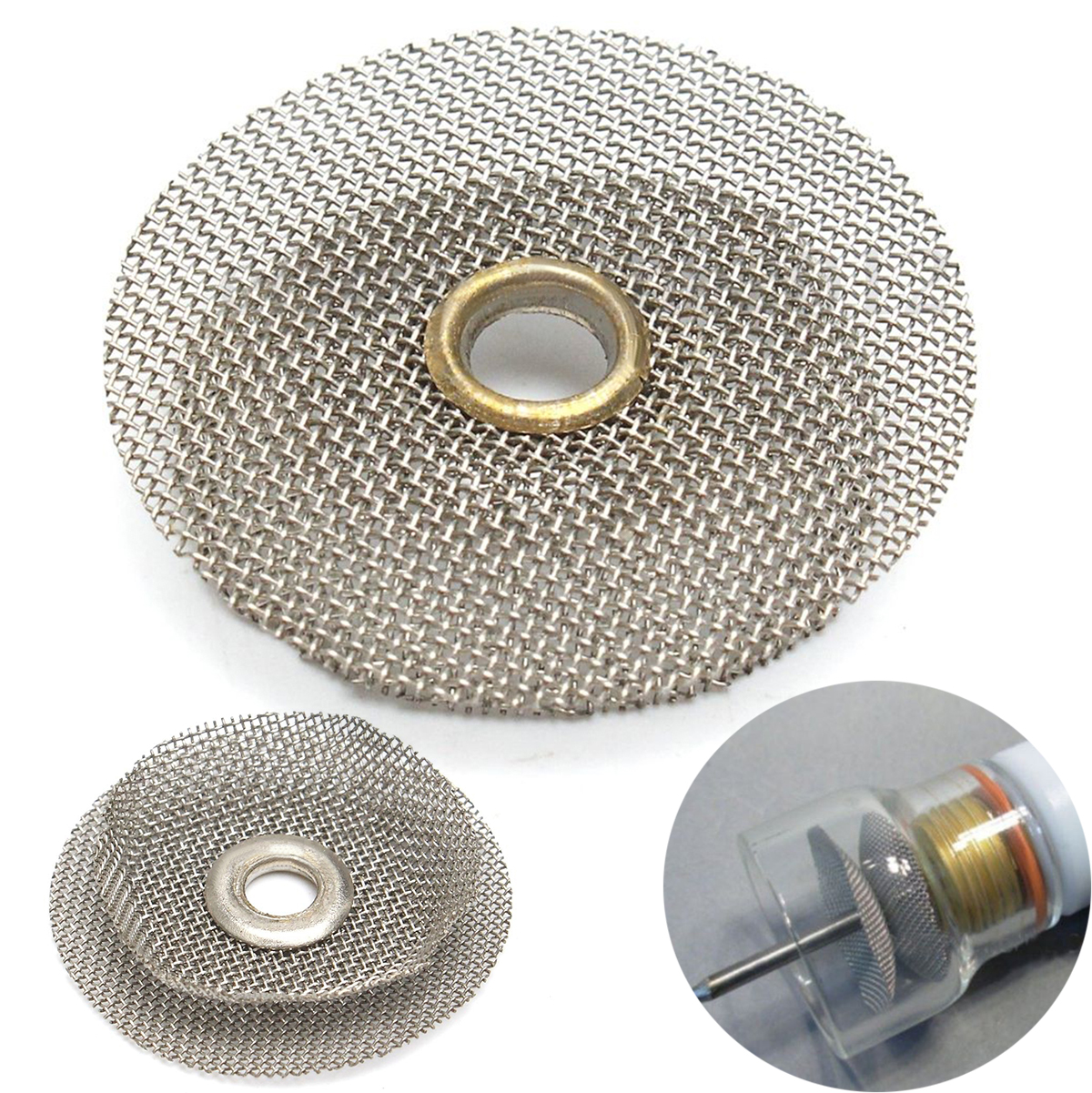 1pc Gray TIG Welding Weld Pyrex Cup Kit Steel Wire Filter 22*18*4mm For Torches Gas Lens Mayitr Welding Accessories thermocouple spot welding machine tl weld metal ball lotus wire feeder thermocouple welding