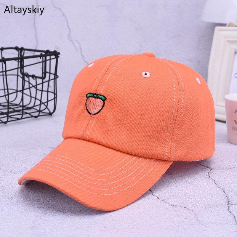 Kopfbedeckungen Für Damen Offen Baseball Caps Frauen Sommer Obst Bestickte Feste Einstellbare Hysterese Hut Frauen Koreanische Stil Allgleiches Einfache Casual Trendy