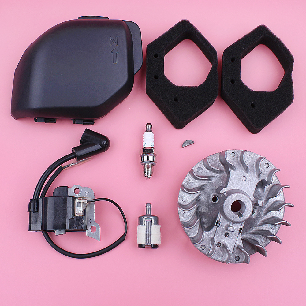 Honda Flywheel Filter Stroke GX25 25 Mower For GX Filter Coil Lawn Housing Cover Engine Fuel Spark Air Ignition 4 Part Plug