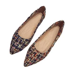 Image 5 - BEYARNE zapatos de marca de moda para mujer, zapatillas femeninas de tacón plano colorido con punta estrecha, náuticos, 2019