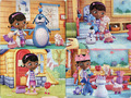 2 pcs/lot The animated cartoon puzzle paper children baby toys gifts doctor picture( 21*28cm,40 pieces)