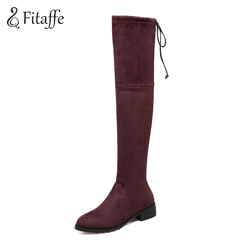 FITAFFE Woman Boots Sexy Over The Knee High Winter Boots Fashion Slip on Pointed Toe Thick Heel Shoes  Big Size 33~46 AI082 jigu air 13 a1369 mc504 a1377 a1405 a1466 mc965 mc966 md231 md232 laptop battery