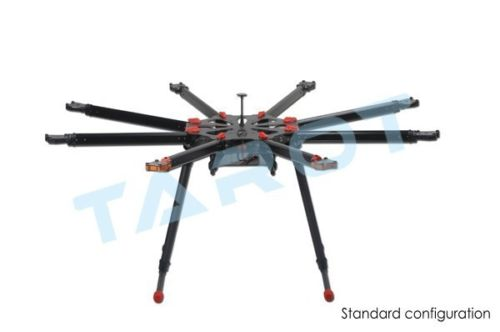 лучшая цена TAROT X8 ALL Carbon OCTA copter Kit with Electric retractable landing skids set TL8X000