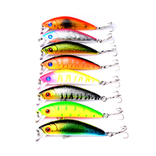 8pcs/lot 7CM 7.6G Fishing Lure Hard Bait Pesca Fishing Tackle isca artificial Minnow Lures 8 Colors Quality Hook 3d luminous fishing lure night fishing minnow hard lure isca artificial hard bait hook fishing tackle abs plastic fake lures