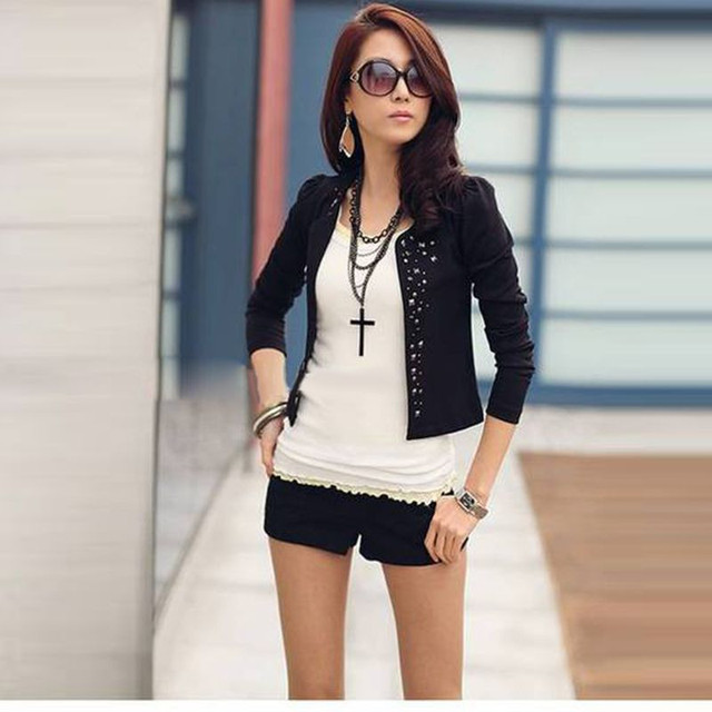 Fashion Cool New Lady's Long Sleeve Shrug Suits small Jacket ...