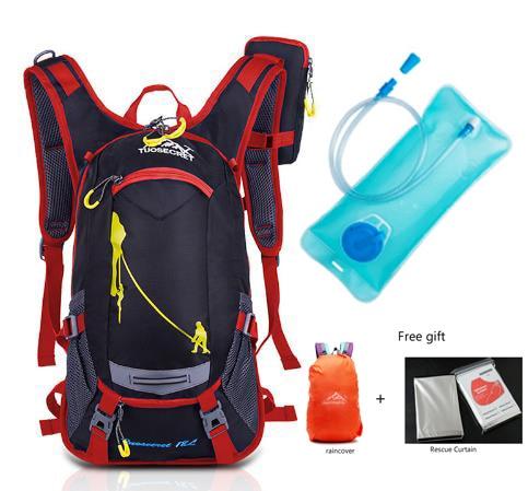 2017 18L Waterproof Camping Backpack +2L Water Bag Outdoor Sports Climbing Riding <font><b>Cycling</b></font> Travel Bag Sport Rucksacks Knapsack