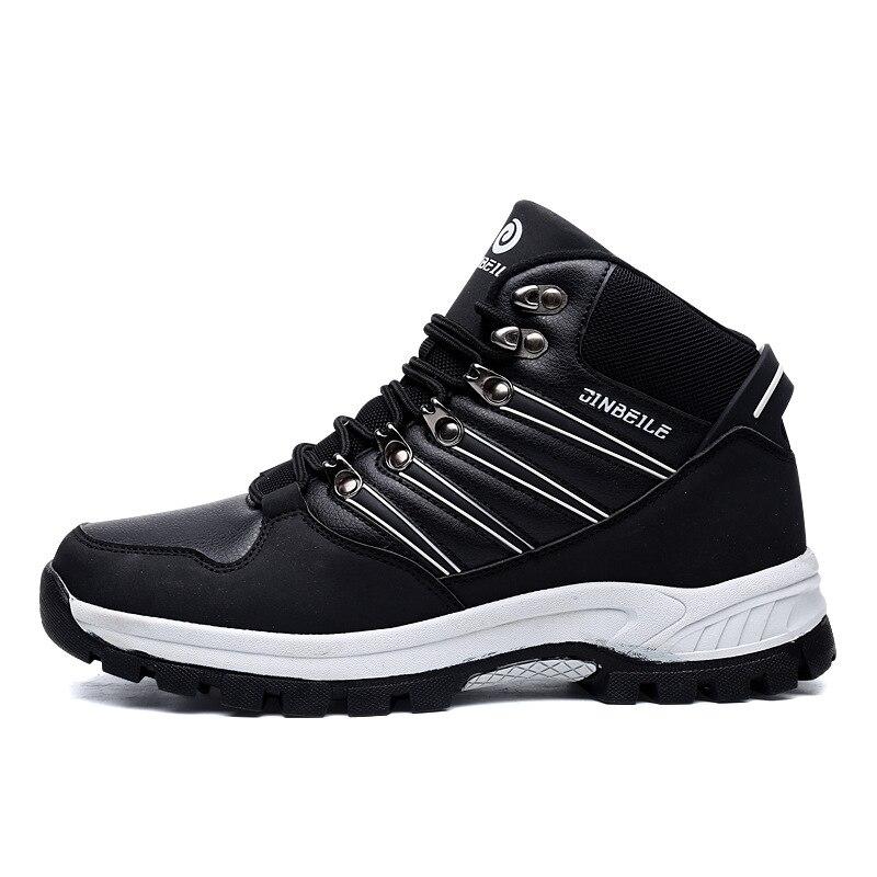 Mais Sapatos 45 black Não Desgaste Veludo Outono Black Ao Tamanho White 40 Ar Livre Homens slip Quente Caminhada De Backcamel Inverno resistente Calçado Red Dos gEOxYg