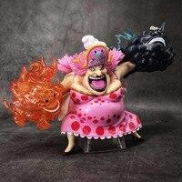 One Piece Big MomCharlotte Linlin GK Homie Monkey D Luffy Blue Luffy 15CM PVC Action Figure Model Doll Toys