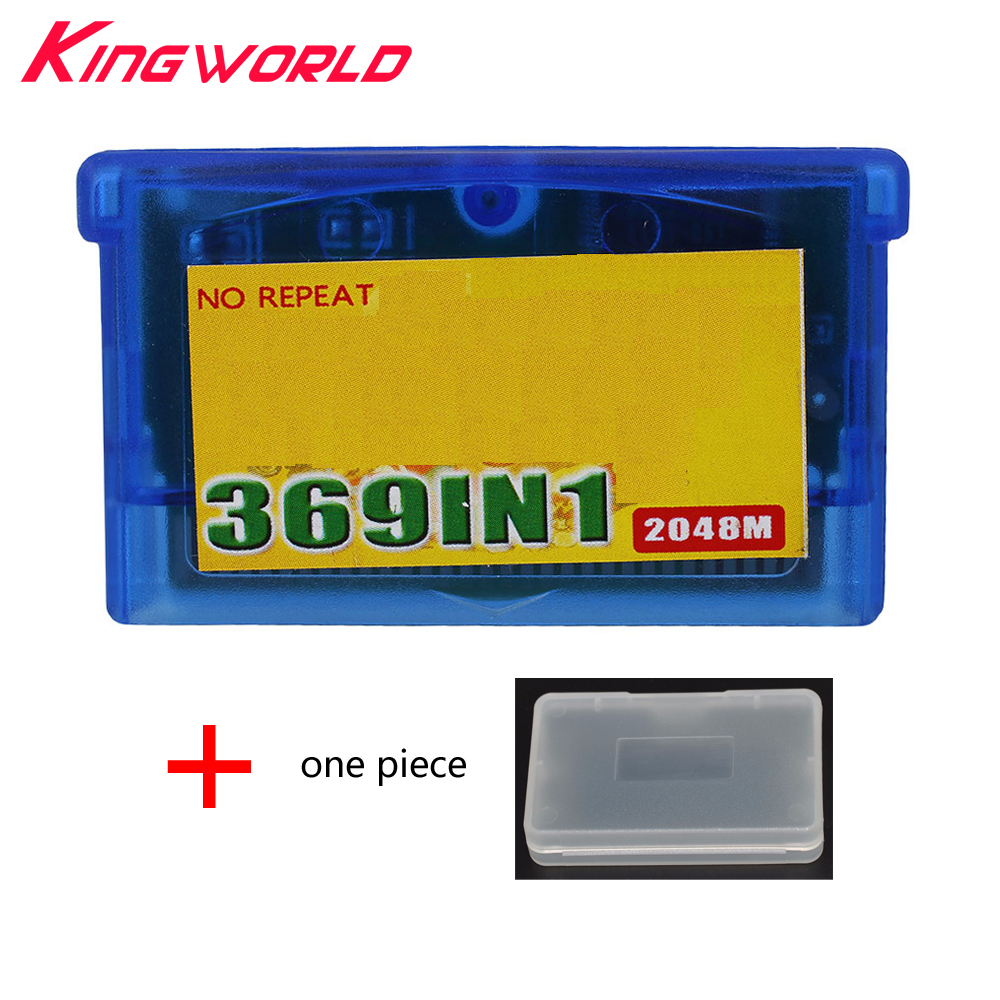For GameBoy GameBox Advance 369 In 1 Game Card game Cartridge For GBA Multi Games FREE Protective case