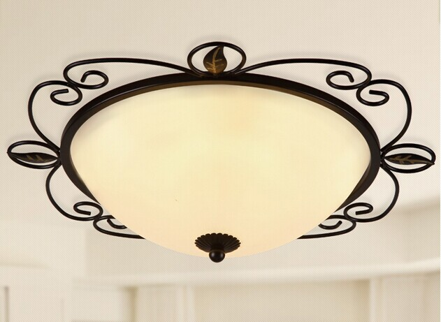 LED ceiling light 18W  American country lamp round iron balcony aisle porch cloakroom bedroom art