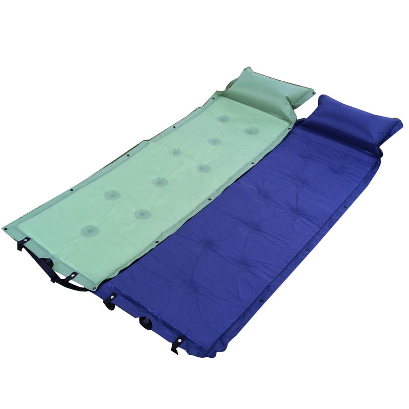 ФОТО Self Inflating Camping Mattress Automatic Inflatable Sleeping Pad Airbed Outdoor Beach Hiking Camping Mat with Air Cushion