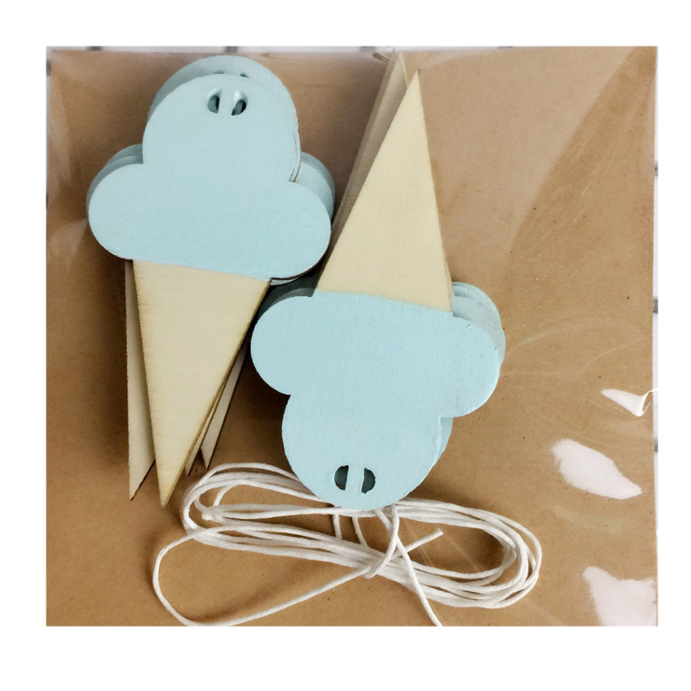 Hook home picture more detailed picture about 10pcsset diy 10pcsset diy wooden ice cream wall hooks home wall decorative for children kids room amipublicfo Choice Image