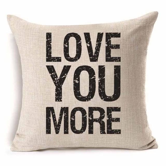 Love Cotton Cushion Cover