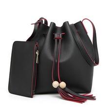 Fashion Women Bag PU Leather Two Set Purse Handbags Famous Brands Designer Handbag High Quality Female