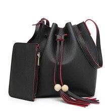 Mujeres de la manera Bolso de Cuero de LA PU de Dos Set Frunce Los Bolsos Famosos Bolso de marcas de Diseño de Alta Calidad de Hombro Femenino Bolsas sac principal