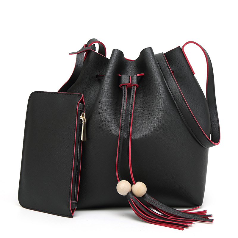 Fashion font b Women b font font b Bag b font PU Leather Two Set Purse