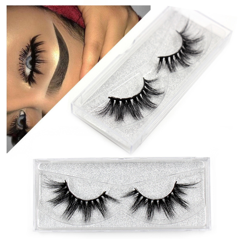 192131d4eca 6Pcs Magnetic Eyelashes Invisible Magnetic Lashes Mink Eyelashes With  Tweezers 3D Mink Lashes Thick Full Strip False Eyelashes