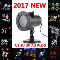 Chrismas Waterproof Laser Fairy Light Projector Snowflake Outdoor LED Stage Lights 12 Types Holiday Lamp Garden