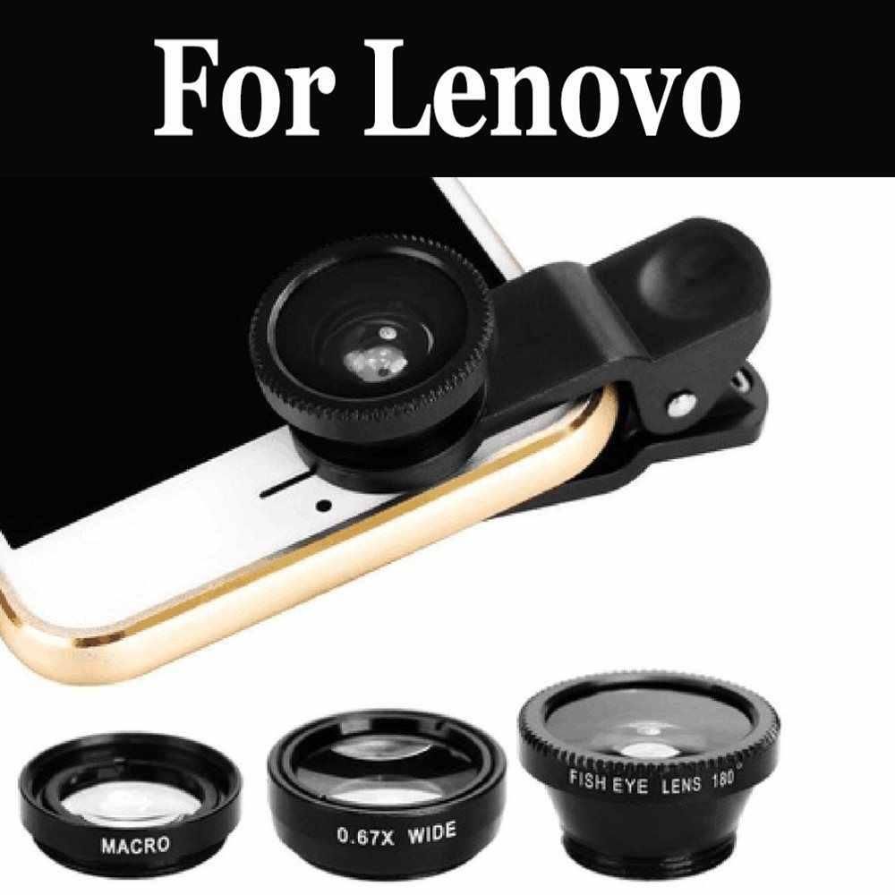 3 trong 1 Rộng Góc Ống kính mắt cá Camera Bộ Dụng Cụ Điện Thoại Cho Lenovo Chanh 3 C2 Vibe C vibe S1L C2 Điện MỘT Plus Vibe K5 Note P2
