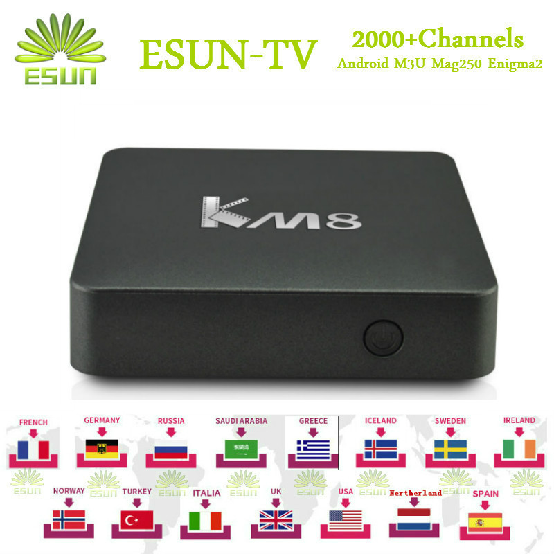 1 Year Free IPTV ESUNTV KM8 Android TV Box 6.0 2/16G S905X Spain Germany Sweden Netherland Portugal Italian Adult xxx UK esuntv x96 android7 1box 2g 16g with 1 year europe spain sweden portugal germany albania portugal iptv smart tv box set top box