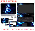 Rushed Colorful Laptop Stickers Waterproof Personality  Skins Case Free Cutting ProtectiveStickers For Acer S3-371-951-391