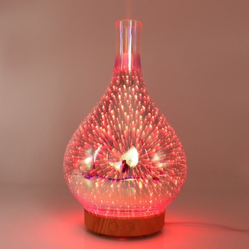 3D Fireworks Glass Vase Shaped Air Humidifier with LED.
