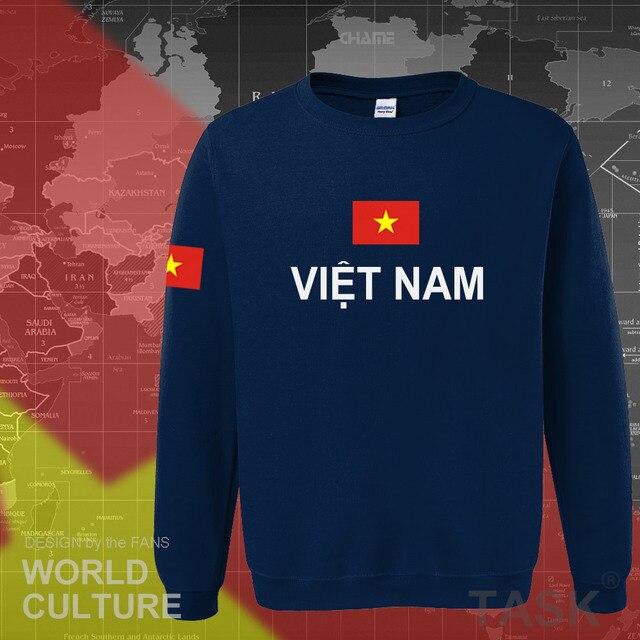 Vietnam hoodies men sweatshirt sweat new hip hop streetwear socceres jerseyes footballer tracksuit nation Vietnamese flag VN 2