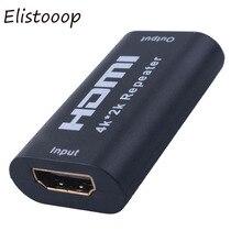 Mini 1080P 4K * 2K repetidor de extensión de HDMI 3D adaptador HDMI amplificador de señal Booster 4,95 Gbps sobre la señal HDTV AH131 + extensor HDMI