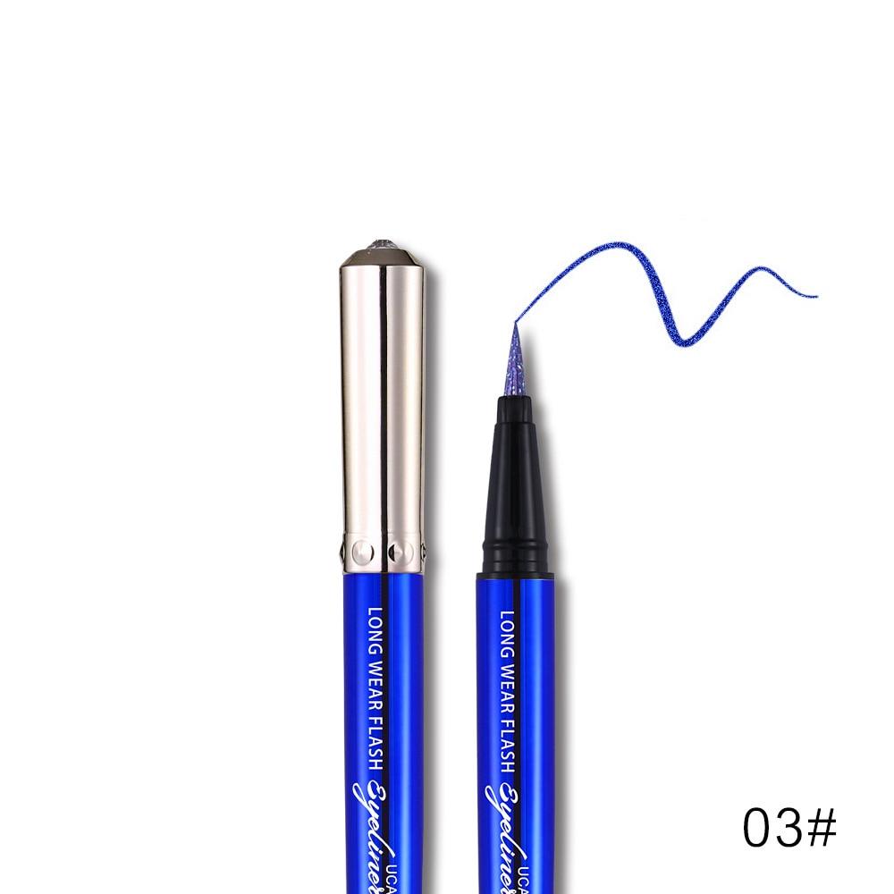 Ucanbe makeup glitter eyeliner pencil 5colors purple blue green eye liner waterproof long lasting liquid white eyeliner AU045 6